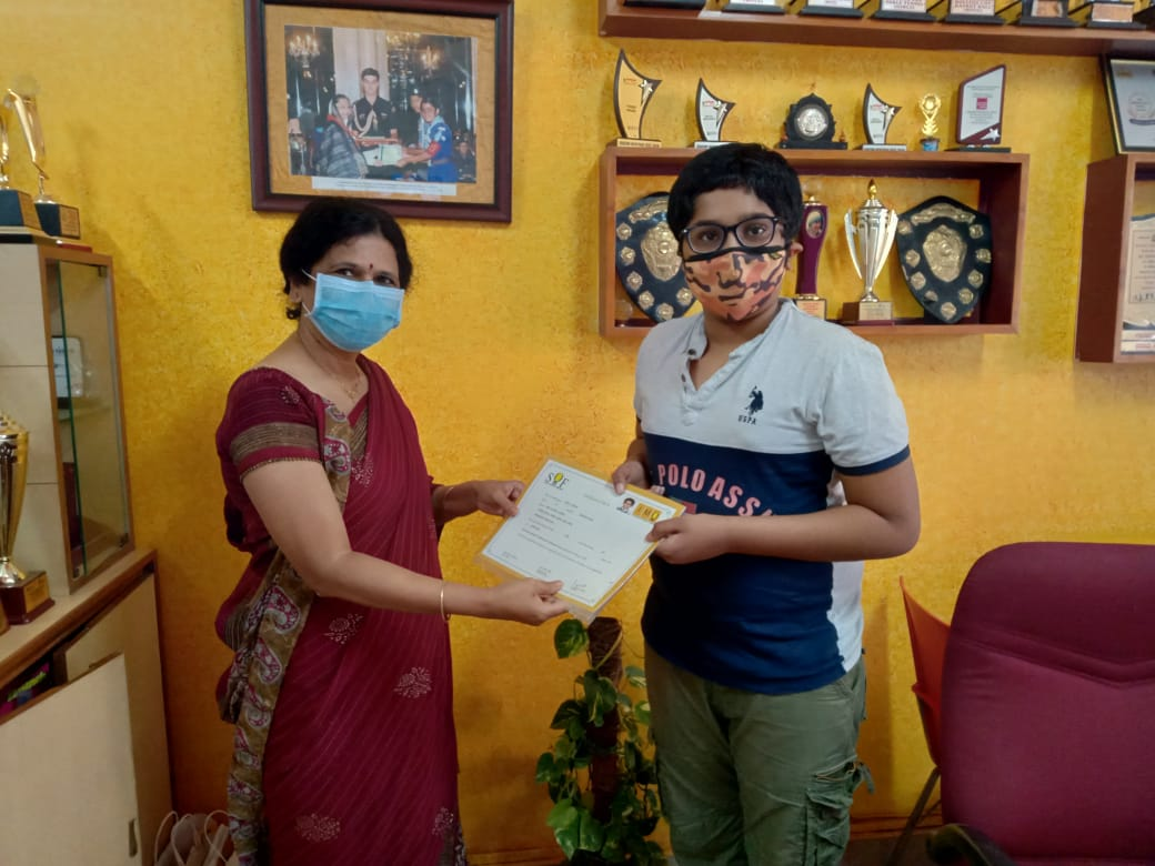 Cauvery Student Shines In SOF Olympiad